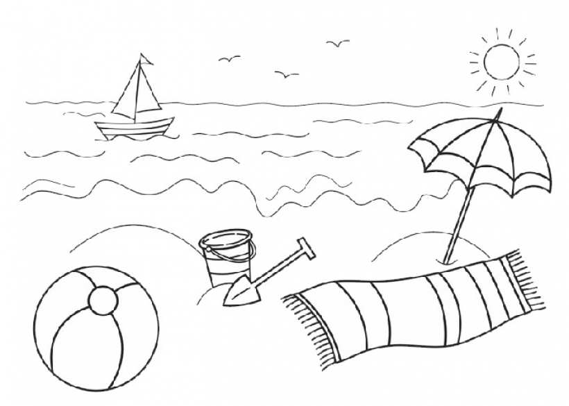 clipart summer black and white