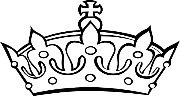 queen crown clipart white