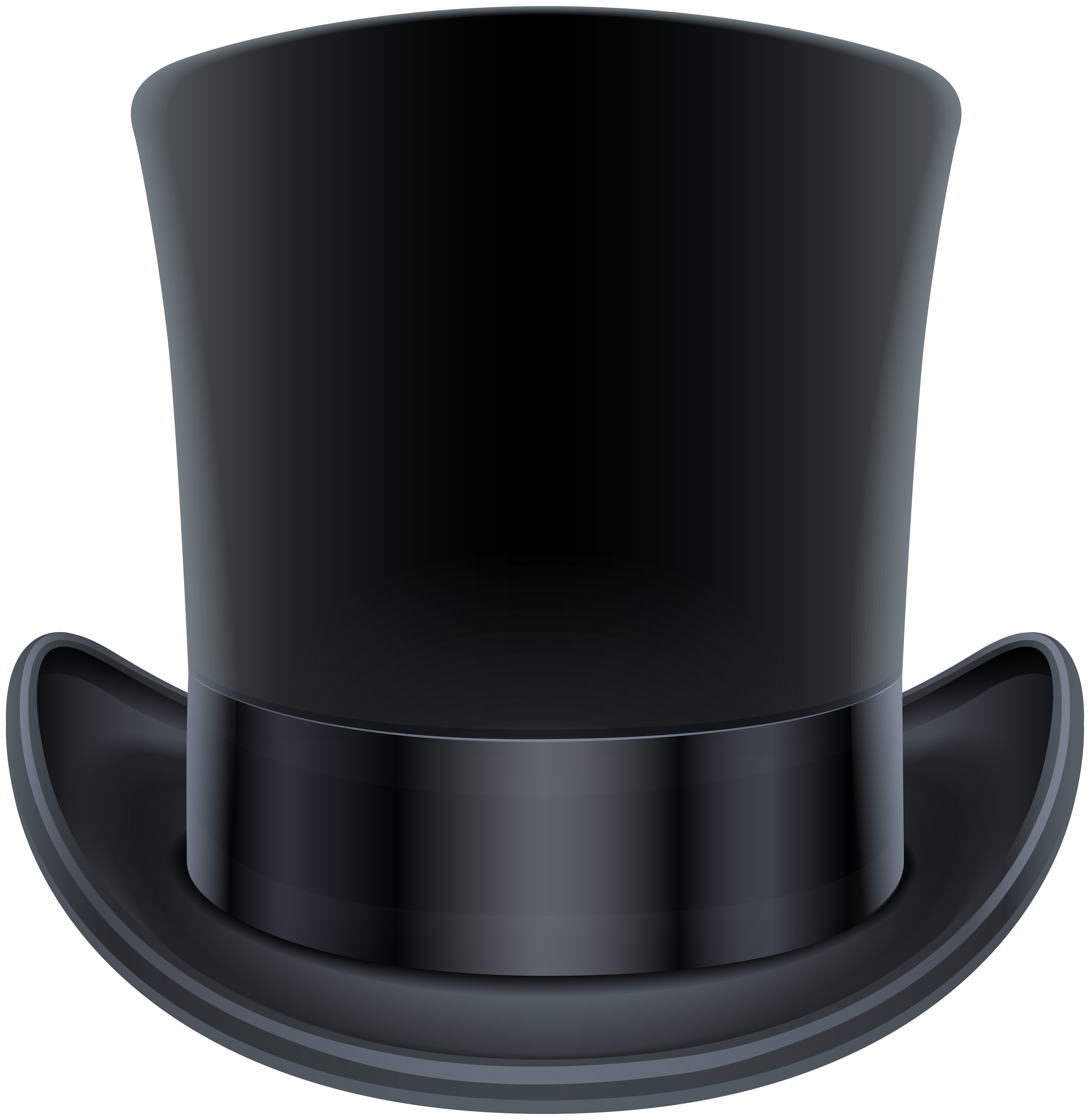 Black clipart tophat.