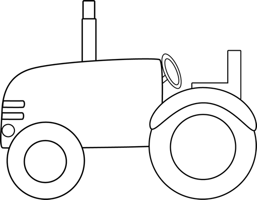 tractor clipart simple