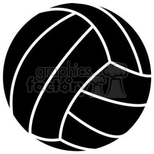 volleyball clipart black