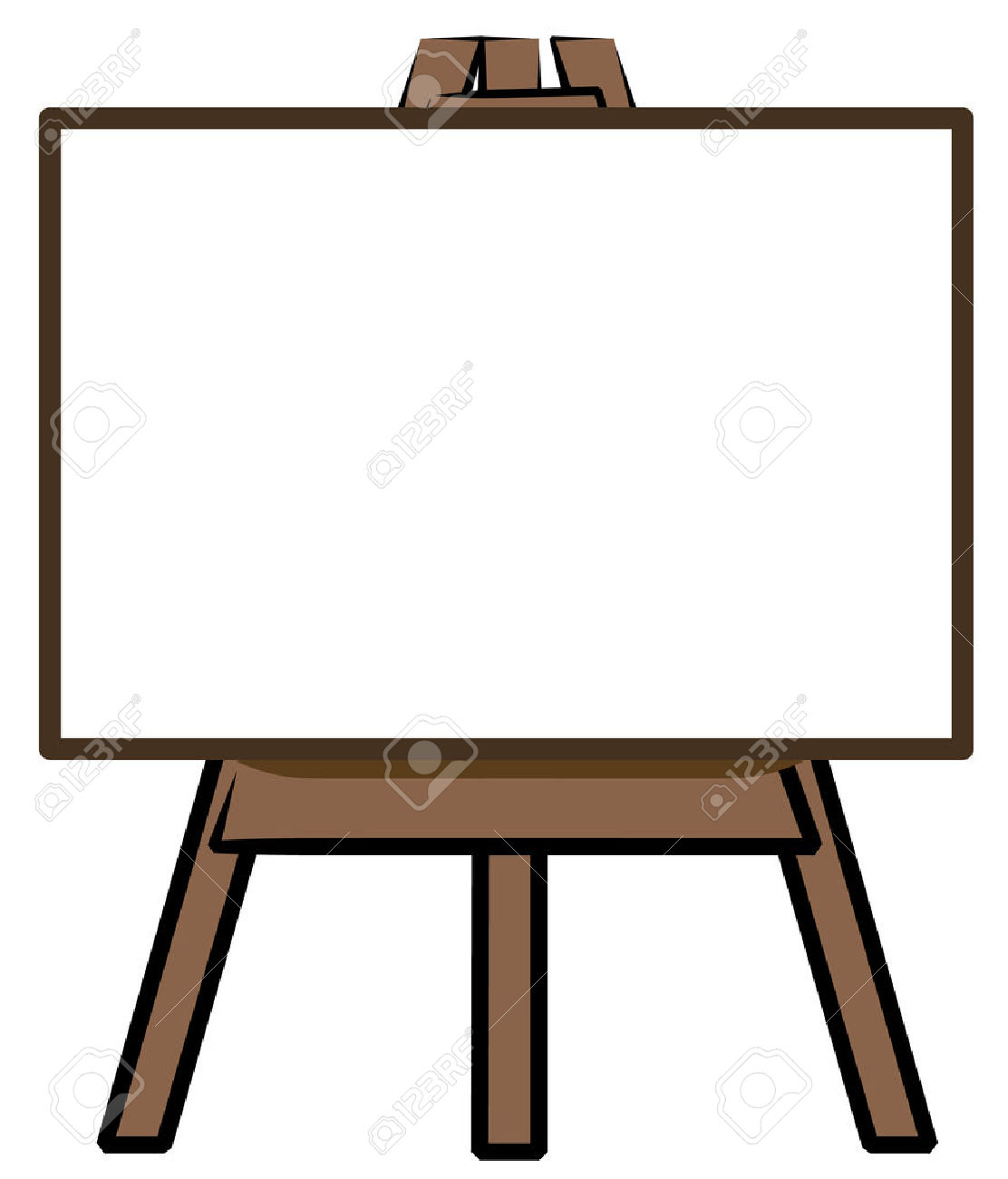 painting clipart easel