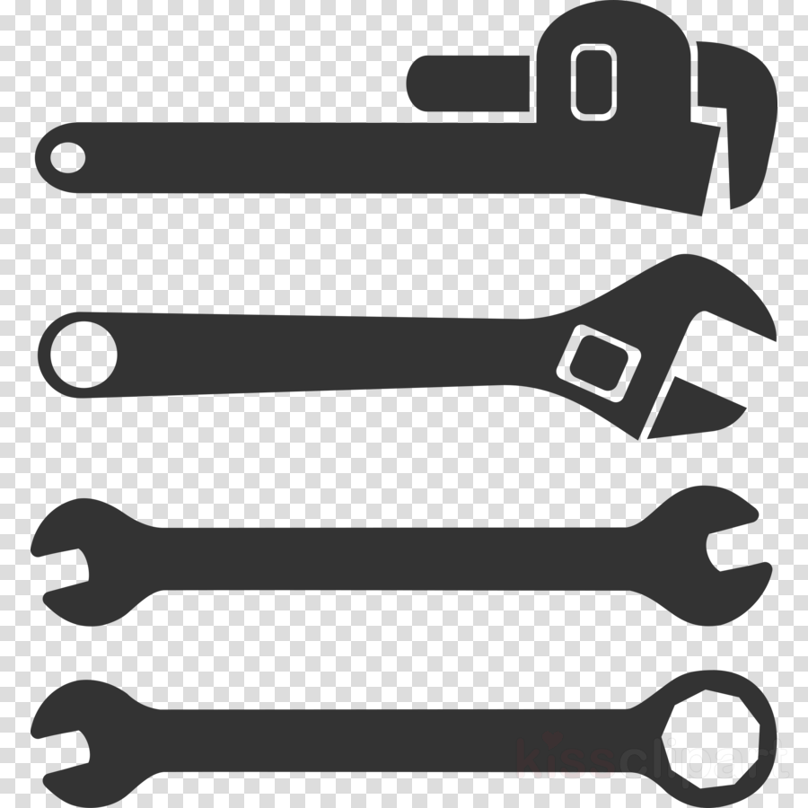 Black clipart wrench.