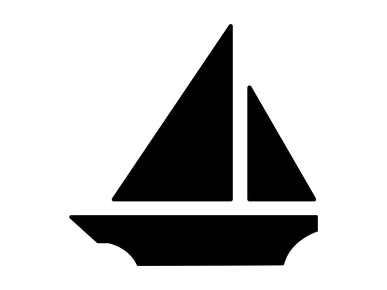 sailboat clipart triangle
