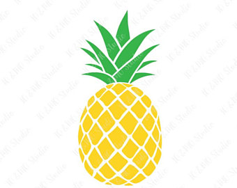 pineapple clipart simple