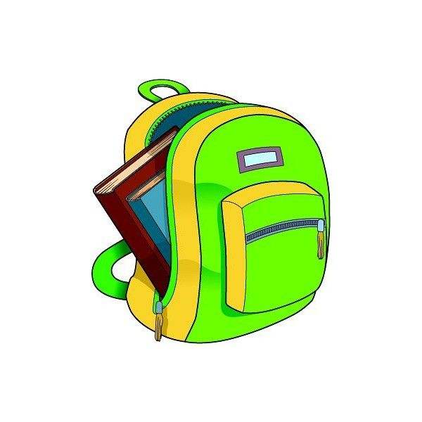 backpack clipart baggage