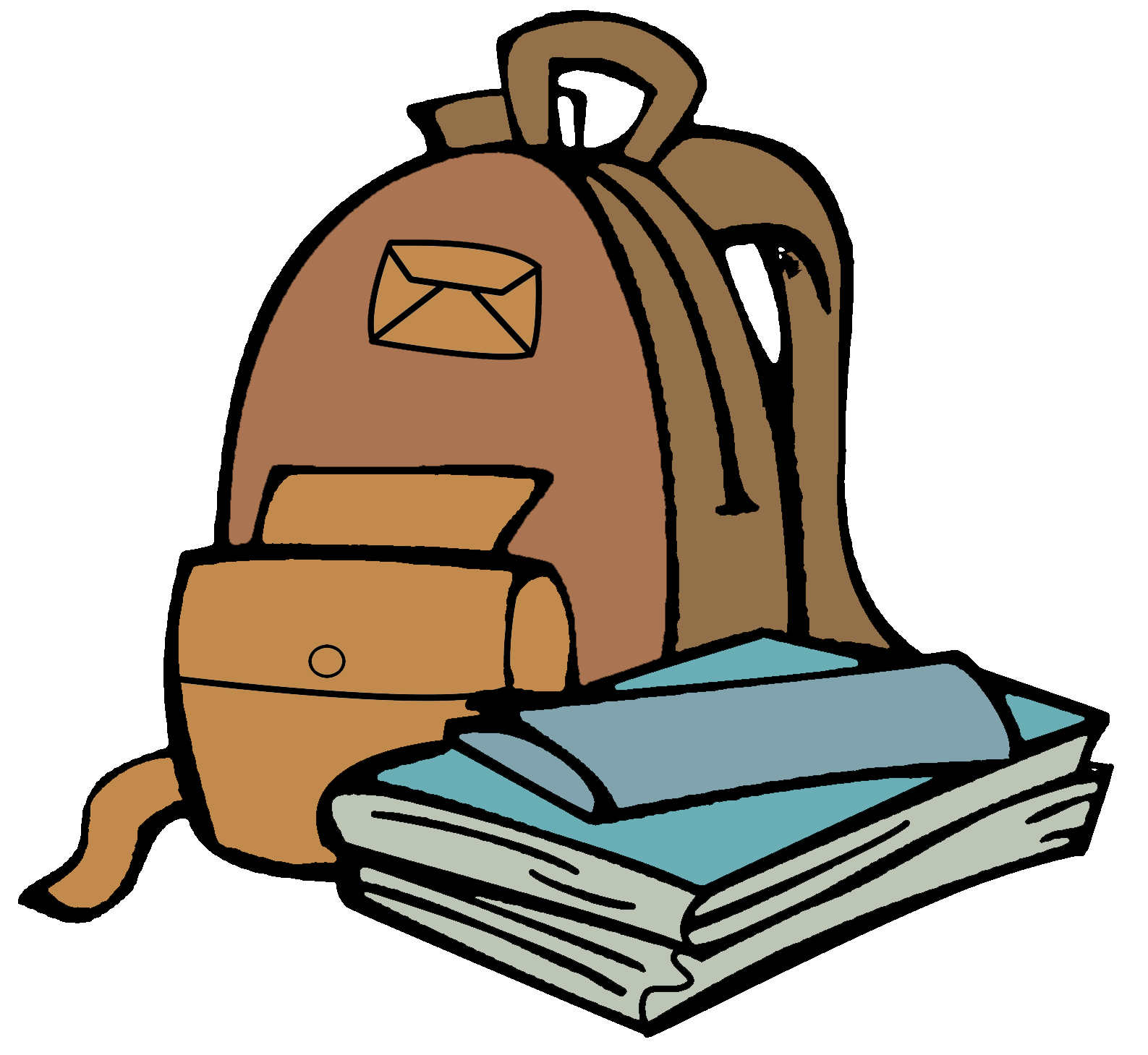 backpack clipart hang