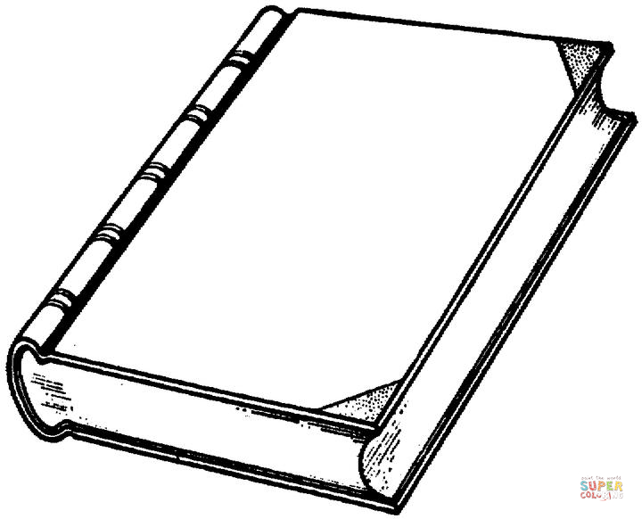 Books clipart coloring pages.