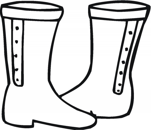 Boot clipart coloring.