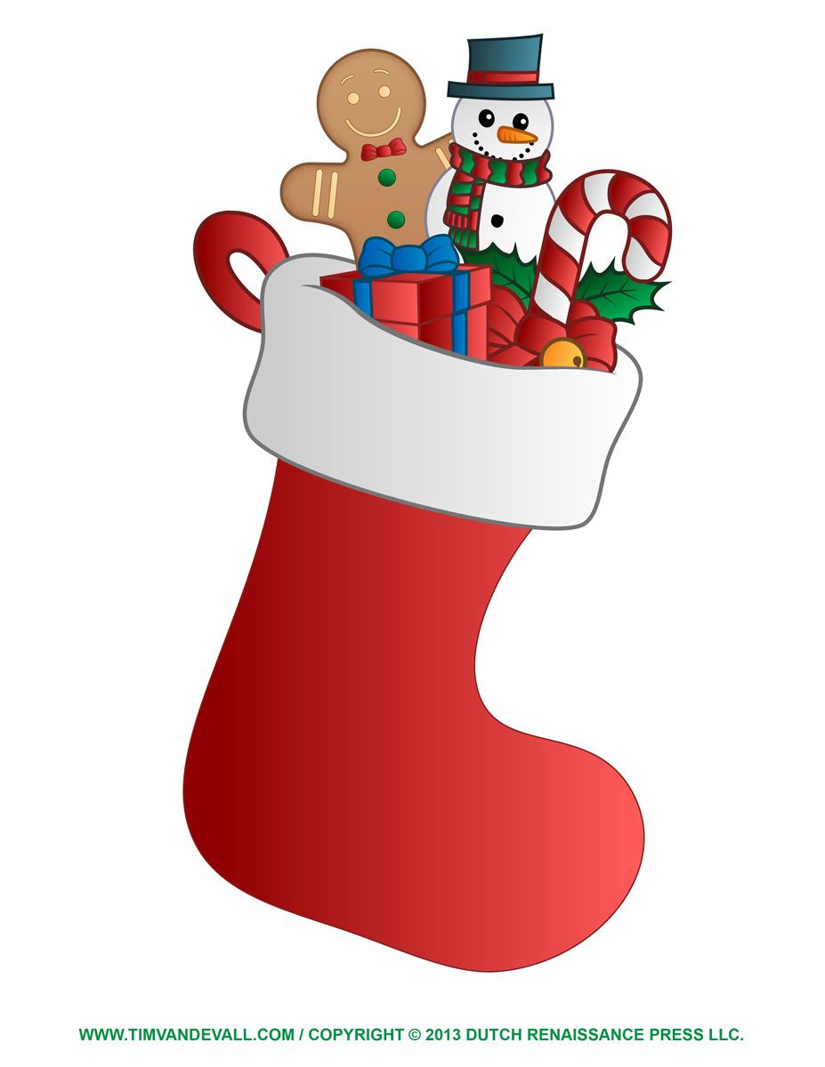 christmas stocking clipart blank