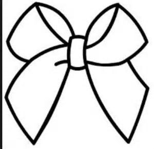 Bow clipart coloring book.