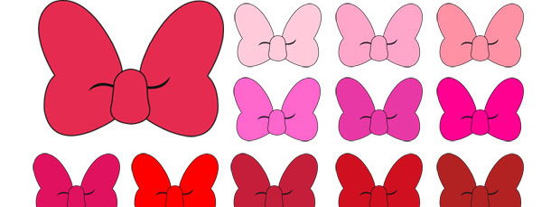 minnie mouse bow clipart gold