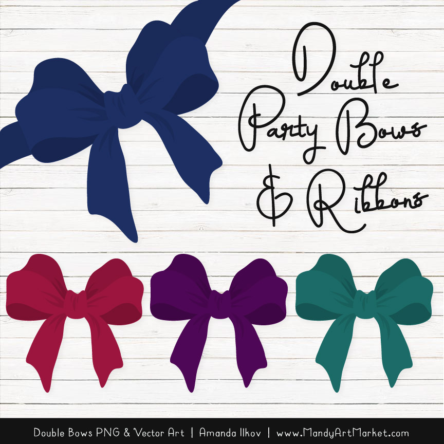 Bow clipart package.
