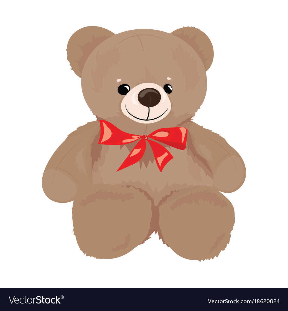 Bow clipart teddy bear.
