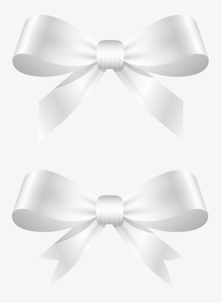 Bow clipart white ribbon.