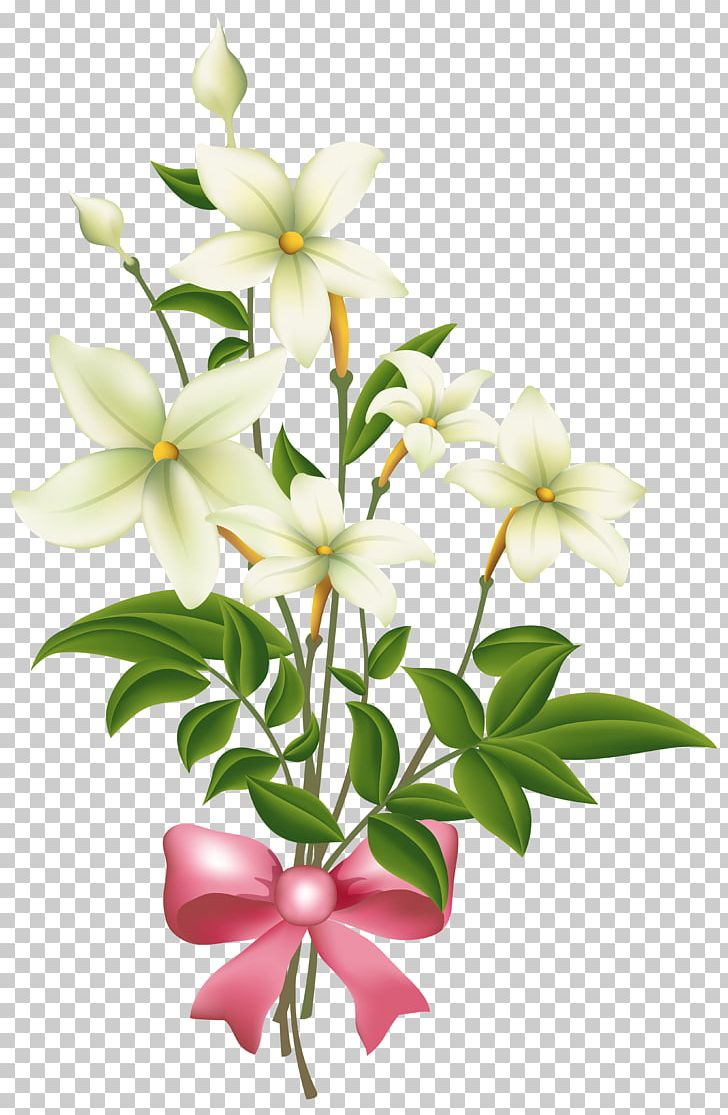 Bow clipart floral.