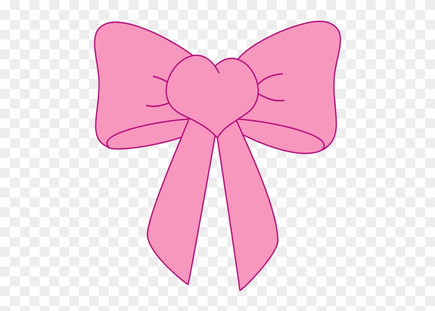 Bow clipart pink.