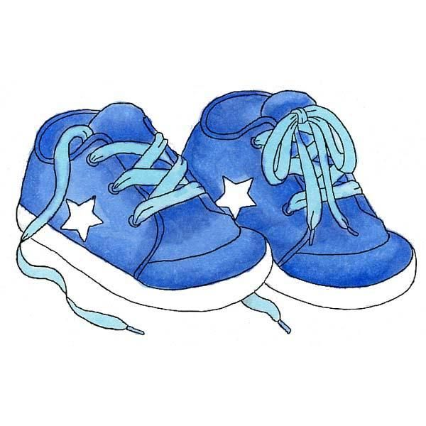 clipart shoes baby