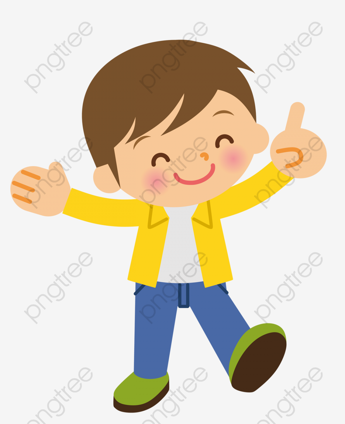 Boy clipart smile.