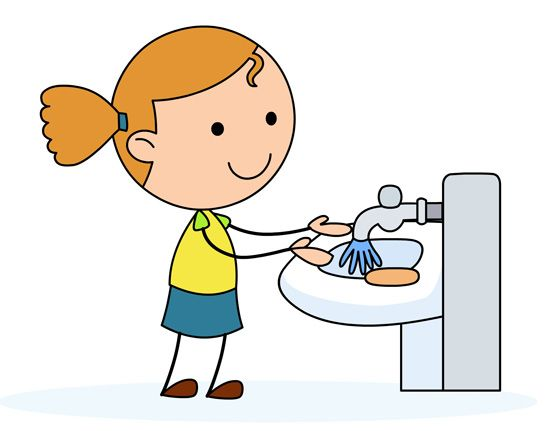 wash hands clipart girl
