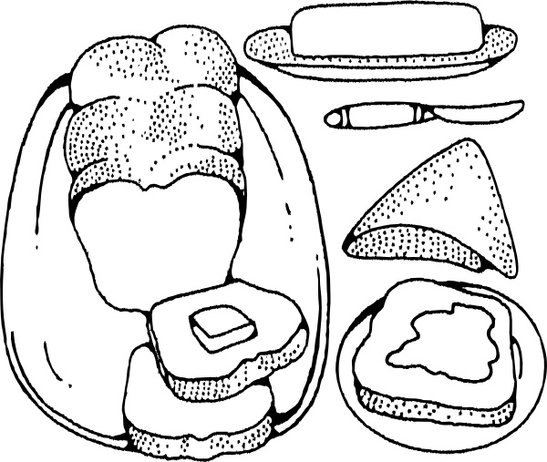butter clipart drawing