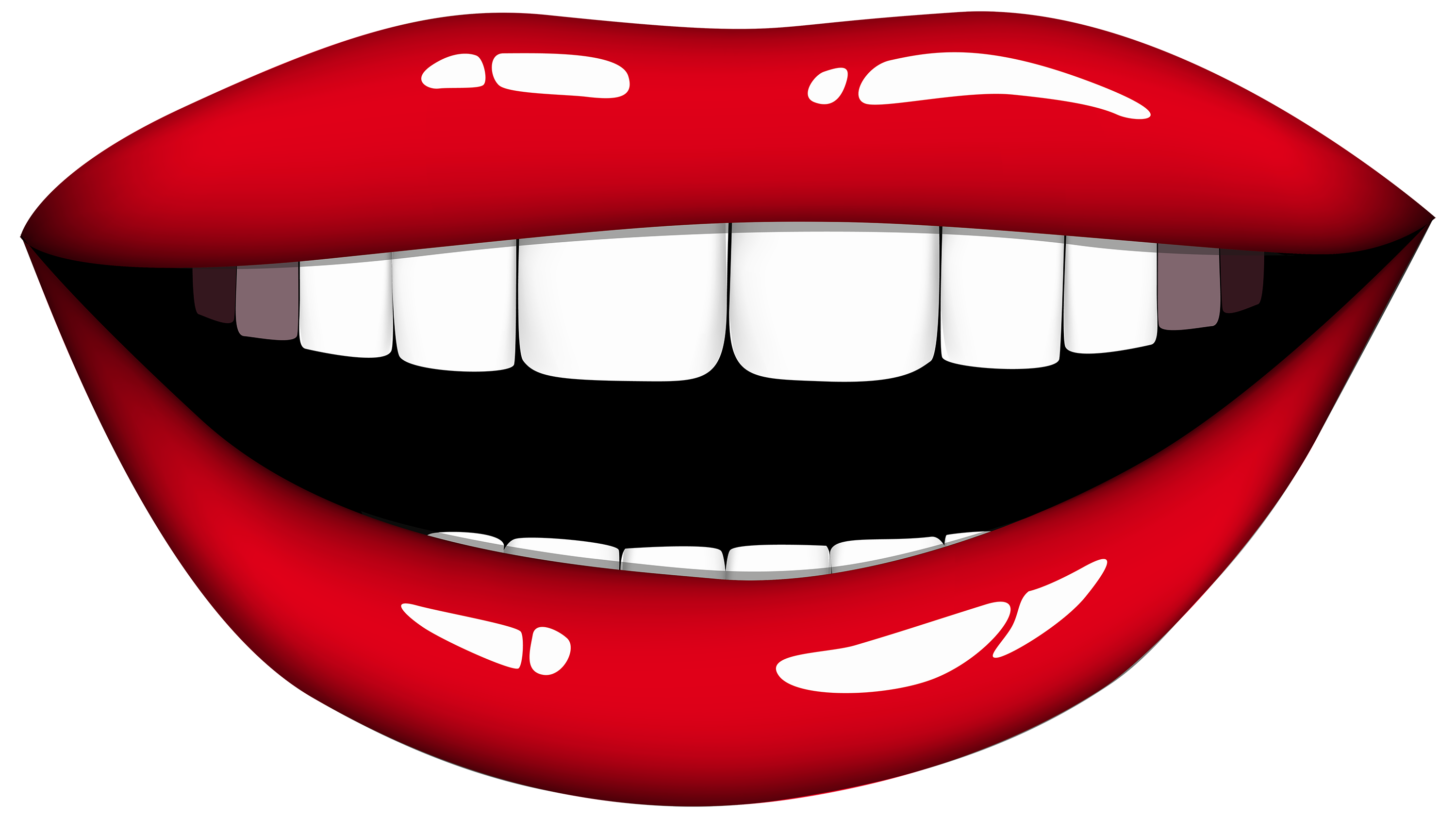 lip clipart smiling