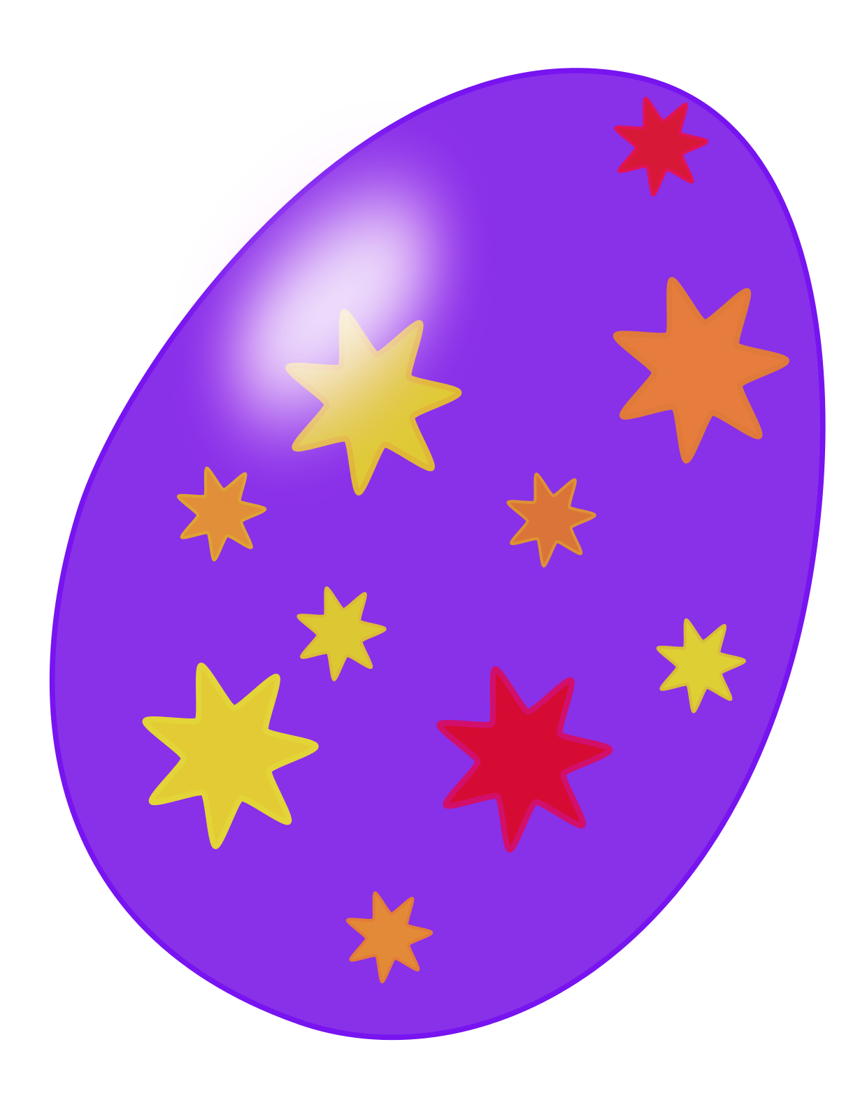easter egg clipart printable