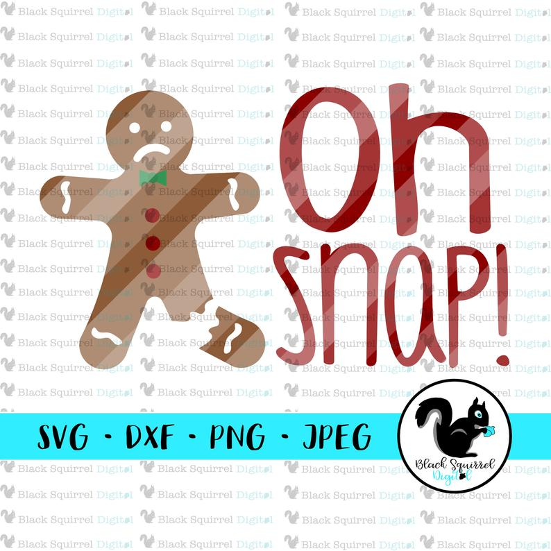 gingerbread clipart oh snap