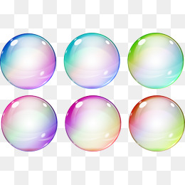 Bubbles clipart colorful.