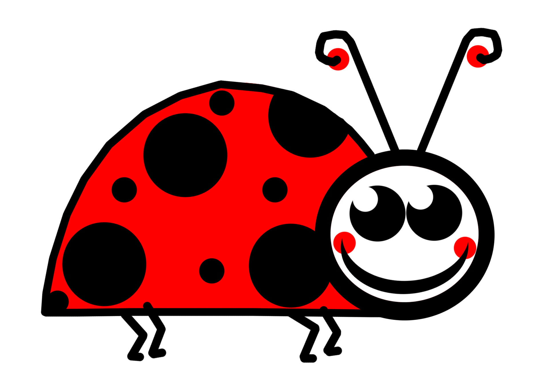 ladybug clipart cartoon