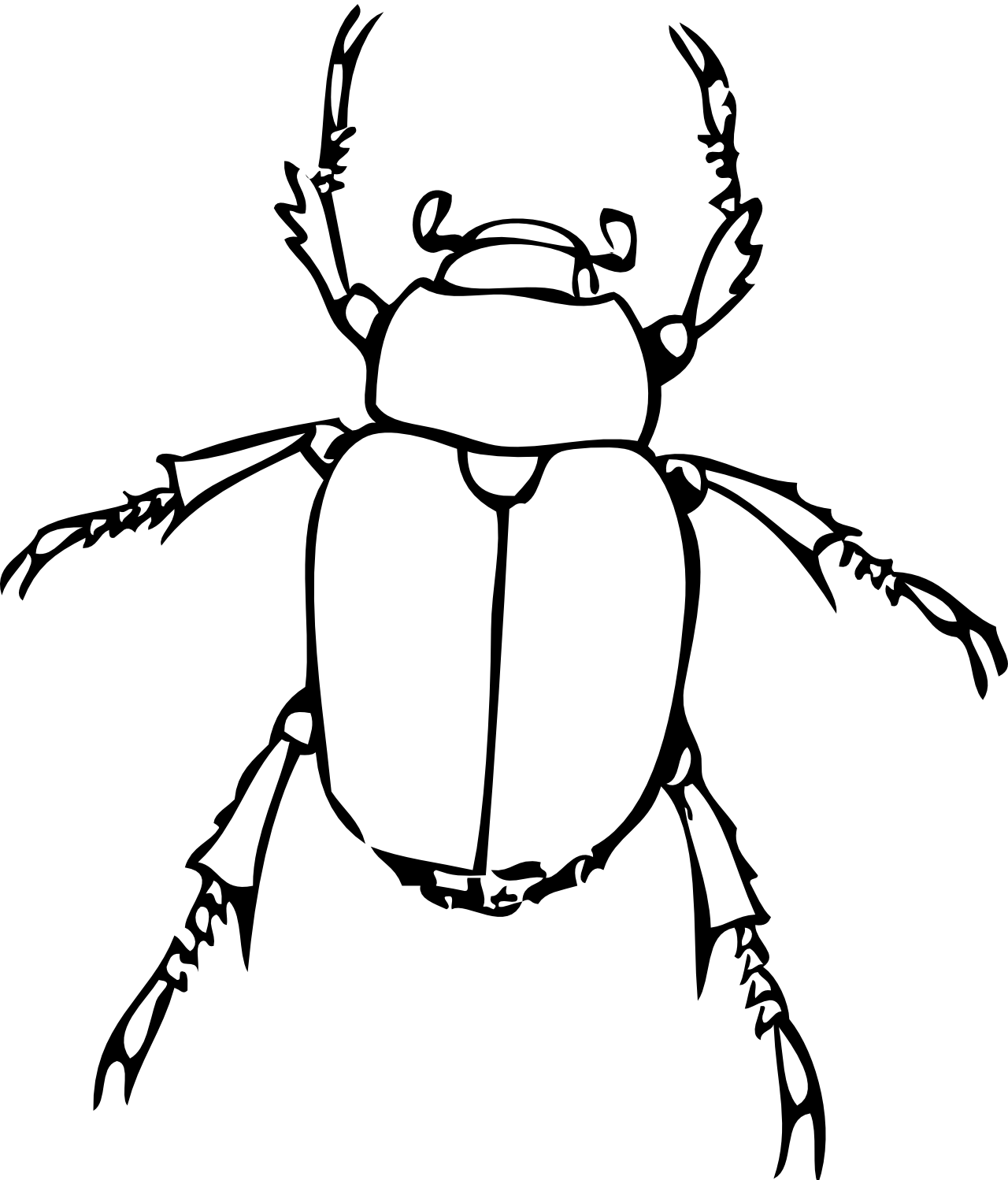Bug clip art black and white.