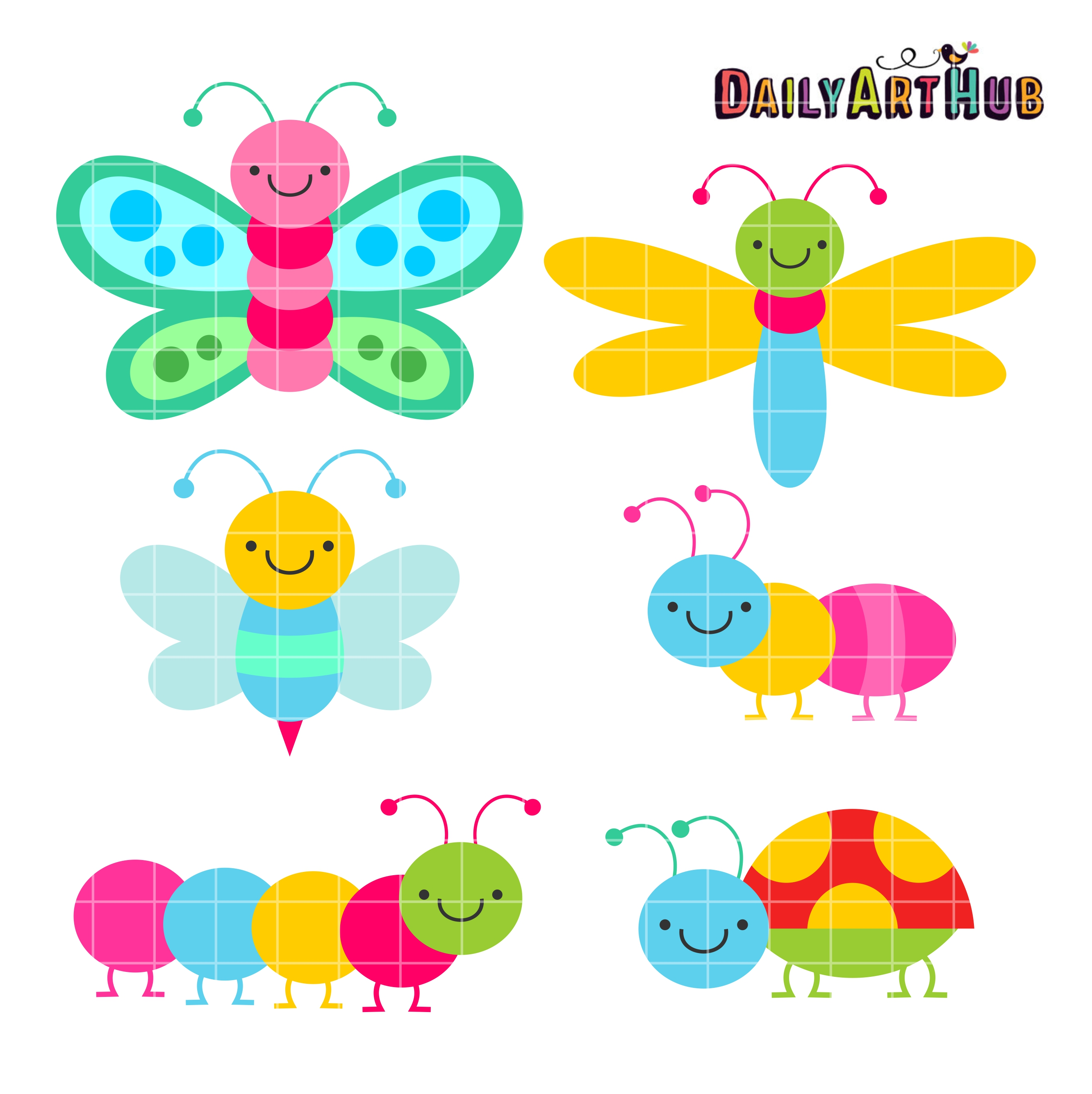 Bug clip art cute.