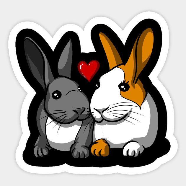Bunnies clipart couple.