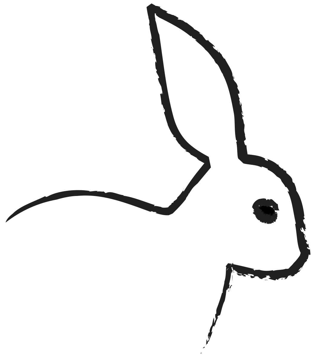 Bunnies clipart easy.