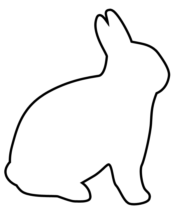 easter black and white clipart outline