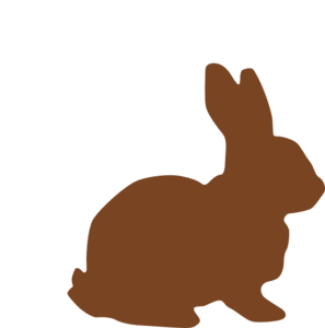 Bunnies clipart simple.