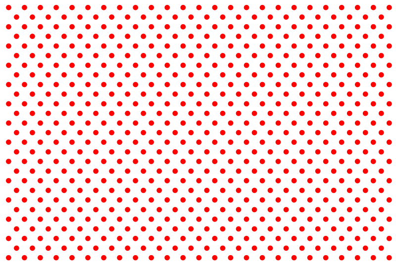 dot pattern clipart red
