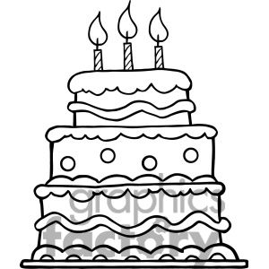 birthday cake clipart black and white wedding