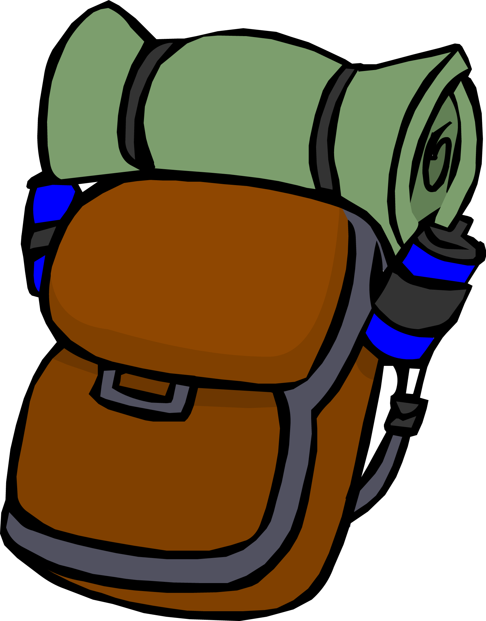 backpack clipart walking
