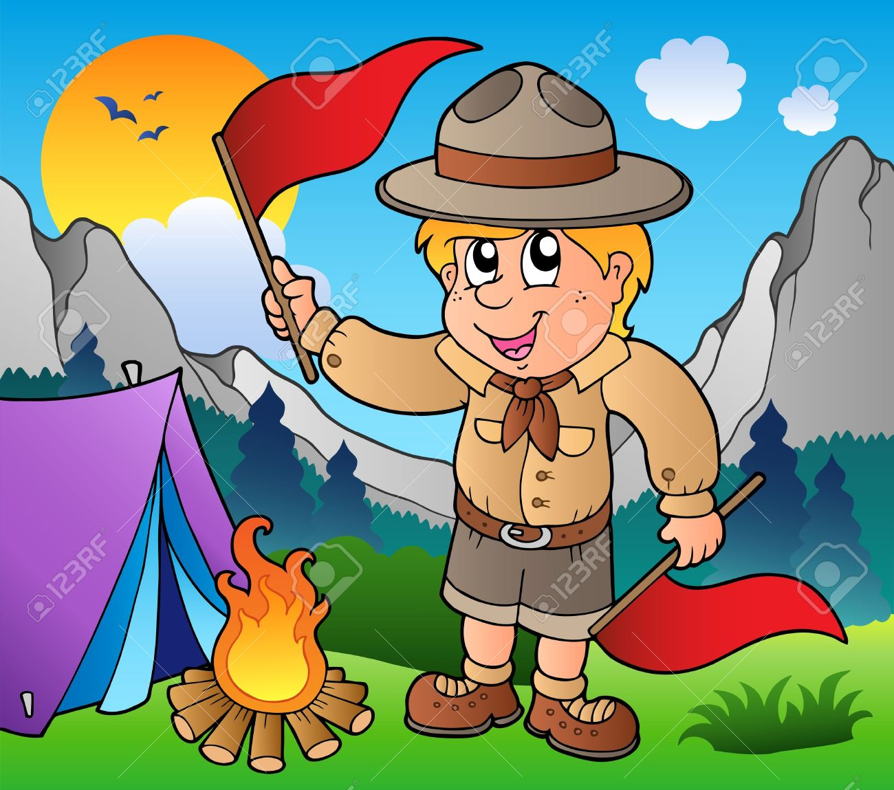 cub scout clipart camping