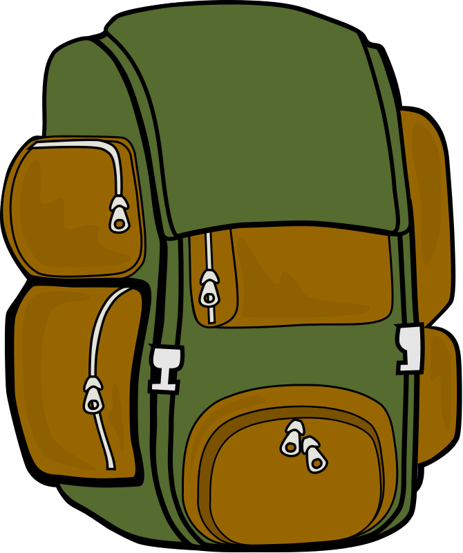 backpack clipart camping