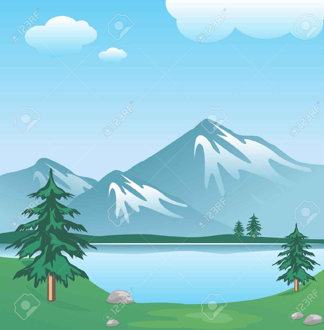 lake clipart background