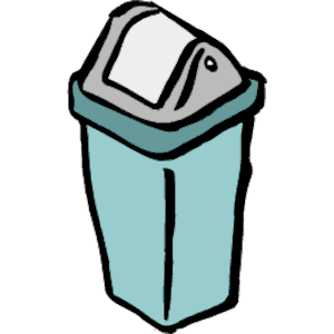 trash can clipart small