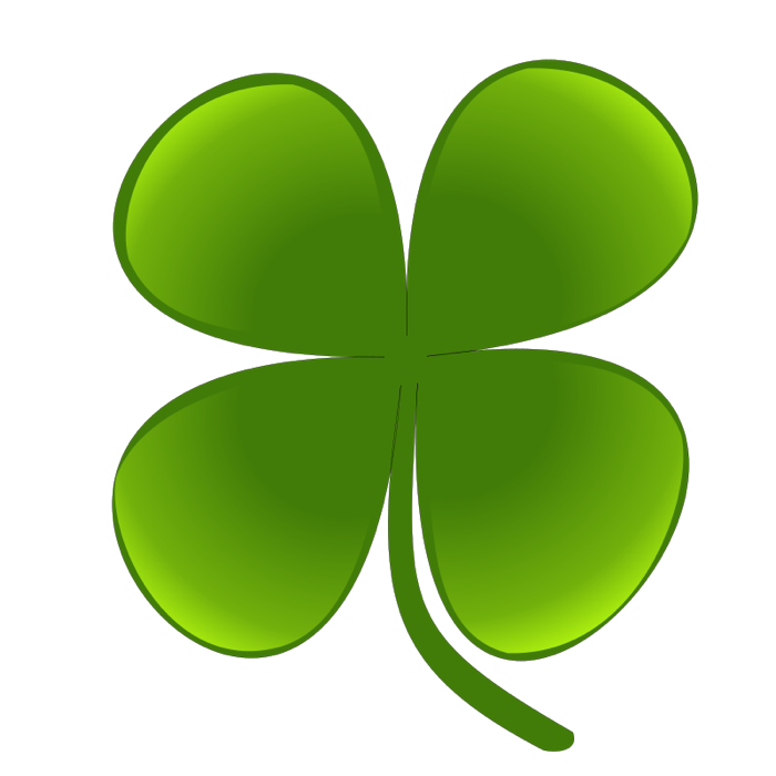 st patrick-s day clipart four leaf clover