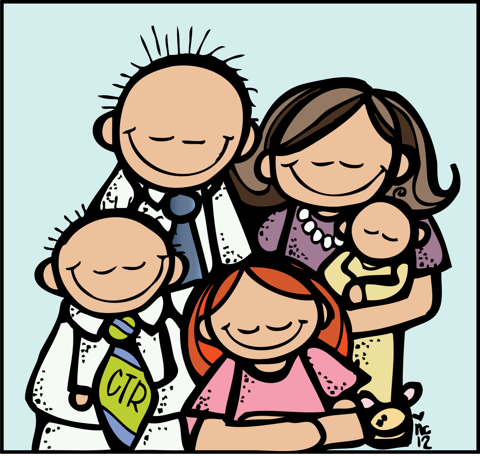 lds clipart family