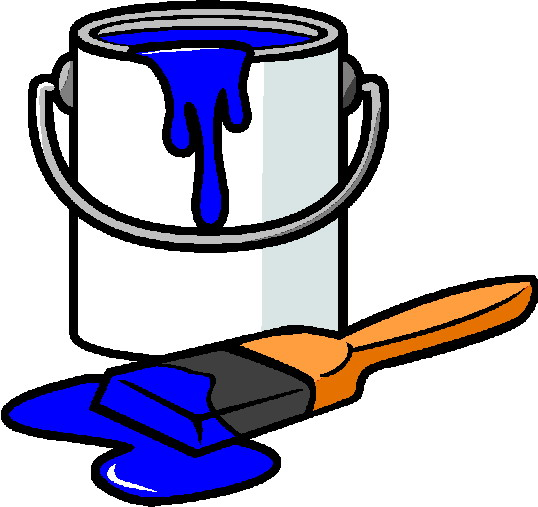 painting clipart house