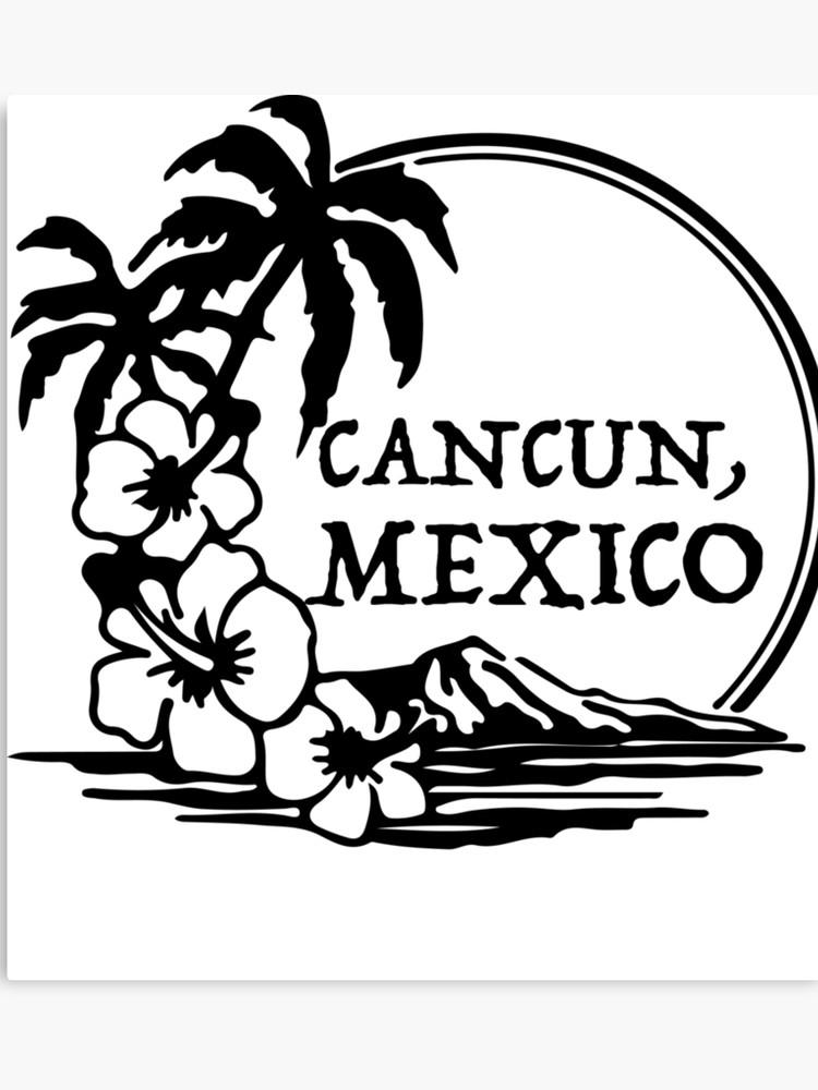 Cancun clipart artwork.