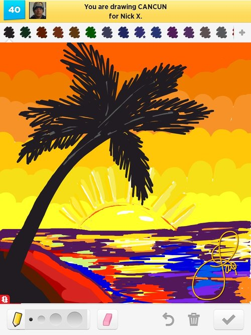 Cancun clipart drawing.