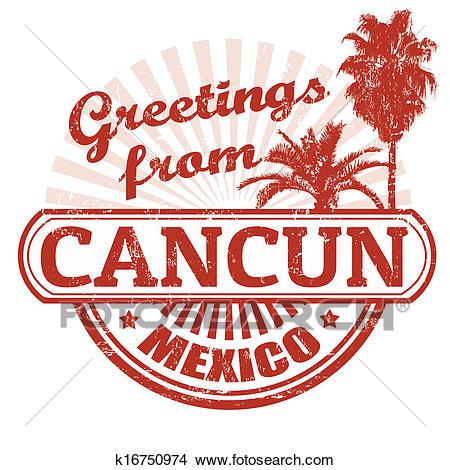 Cancun clipart graphic.