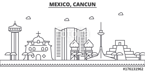 Cancun clipart eps vector.